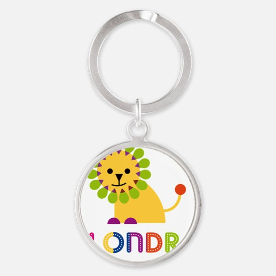 Alondra-the-lion Round Keychain
