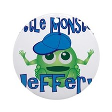 jeffery-b-monster Round Ornament