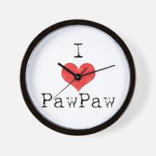I love PawPaw Wall Clock