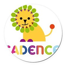 Cadence-the-lion Round Car Magnet