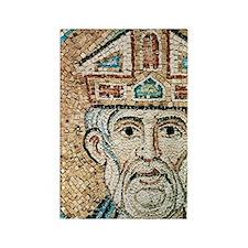 Byzantine Art. Pope Sylvester I ( Rectangle Magnet