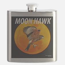 HAWK IN MOON 10x10 P 7D1439 Flask
