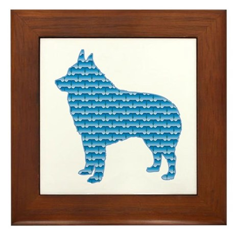 Bone Schipperke Framed Tile