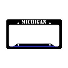Michigan Police License Plate Holder