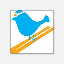 "bluebird Square Sticker 3"" x 3"""