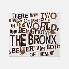 bronx_brown Throw Blanket