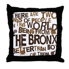 bronx_brown Throw Pillow
