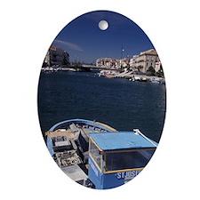 Europe, France, Sete, fishing boats  Oval Ornament