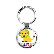 Teagan-the-lion Round Keychain