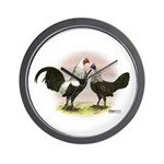 Birchen OE Bantams Wall Clock