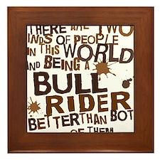 bull_rider_brown Framed Tile