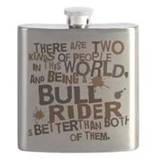 bull_rider_brown Flask