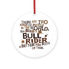 bull_rider_brown Round Ornament
