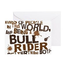 bull_rider_brown Greeting Card