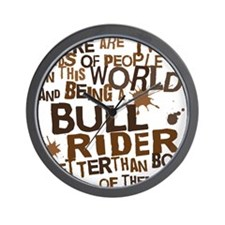 bull_rider_brown Wall Clock