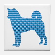 Bone Shiba Inu Tile Coaster