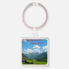 SWISS CAL COVER Square Keychain
