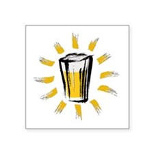 "Beer! Square Sticker 3"" x 3"""