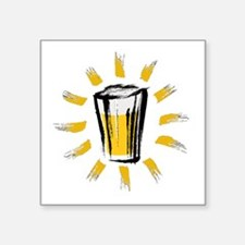 """Beer! Square Sticker 3"""" x 3"""""""