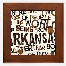 arkansas_brown Framed Tile