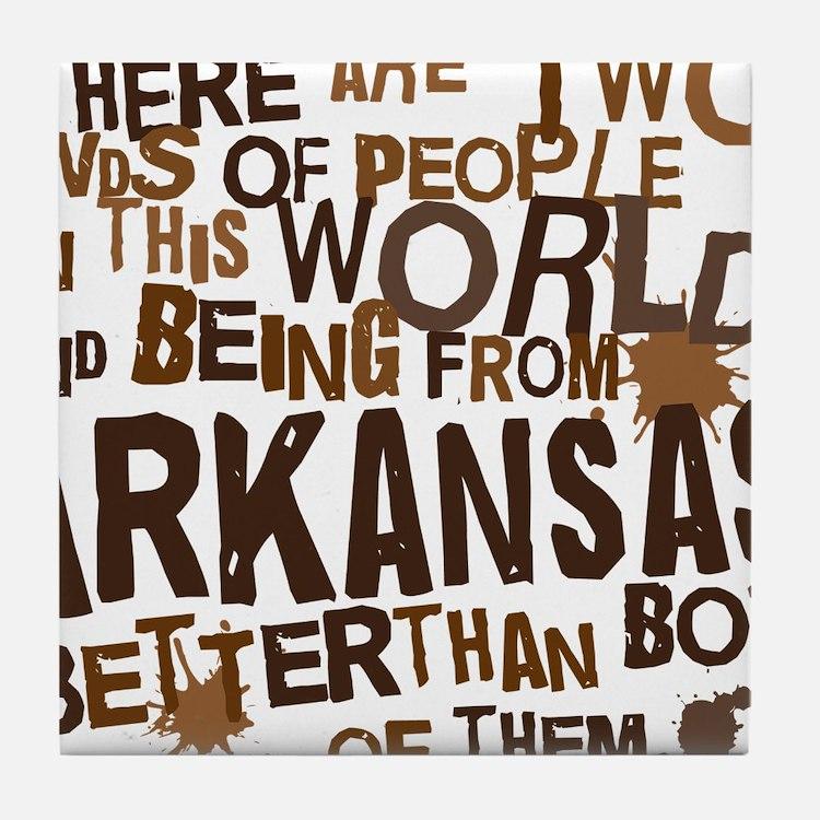 arkansas_brown Tile Coaster