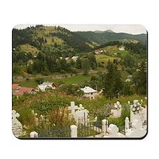 Romania, Maramures, Borsa, Graveyard in  Mousepad
