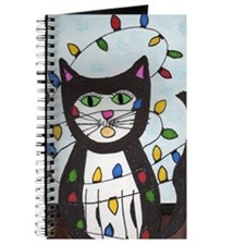 Cat in Christmas Lights Journal