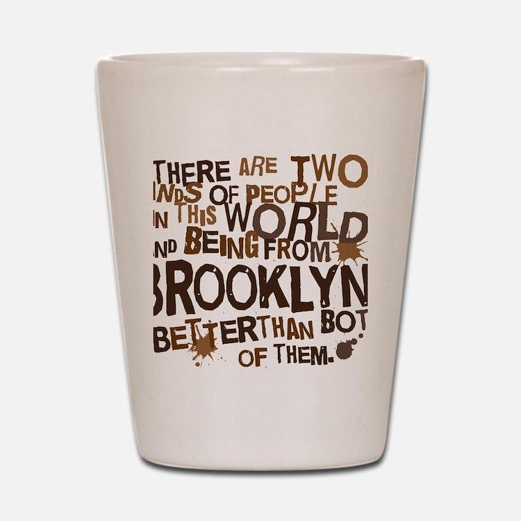brooklyn_brown Shot Glass
