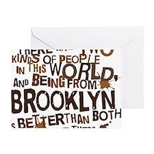brooklyn_brown Greeting Card