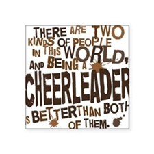 "cheerleaderbrown Square Sticker 3"" x 3"""