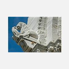 Detail of facade, Church of San M Rectangle Magnet