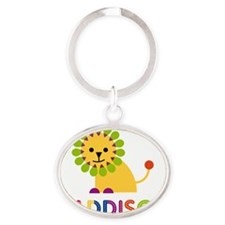 Maddison-the-lion Oval Keychain