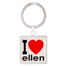 I (Heart) Ellen Square Keychain