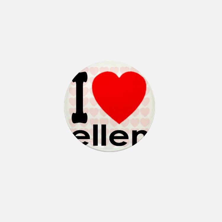 I (Heart) Ellen Mini Button