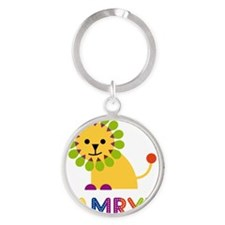 Kamryn-the-lion Round Keychain