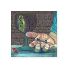 "Streakers 2 Square Sticker 3"" x 3"""