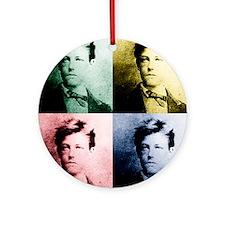 Rimbaud Pop Art Ornament (Round)
