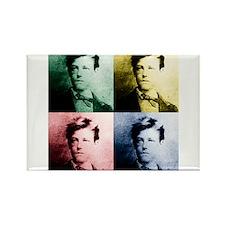 Rimbaud Pop Art Rectangle Magnet (10 pack)
