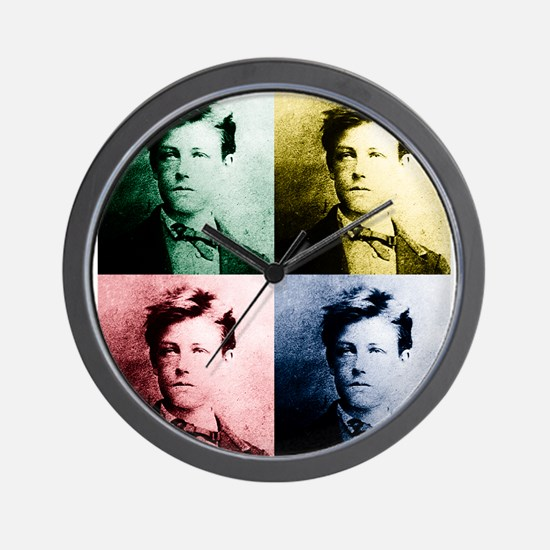 Rimbaud Pop Art Wall Clock