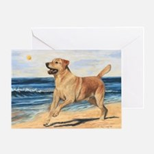 Lab on Beach Greeting Card