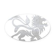 lion_shirt_horizontal Oval Car Magnet