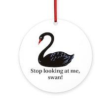 swan Round Ornament
