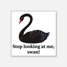 "swan Square Sticker 3"" x 3"""