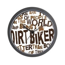 dirtbikerbrown Wall Clock