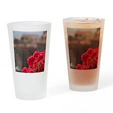 Italy, Cortona, Flower boxes Drinking Glass