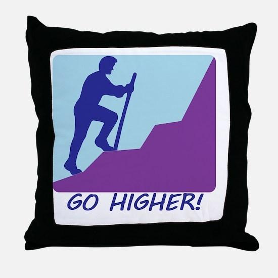3Go Higher.eps Throw Pillow