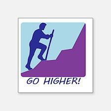 "3Go Higher.eps Square Sticker 3"" x 3"""