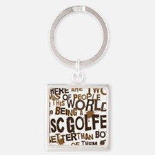 discgolfer_brown Square Keychain