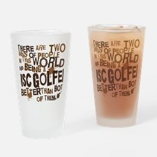 discgolfer_brown Drinking Glass