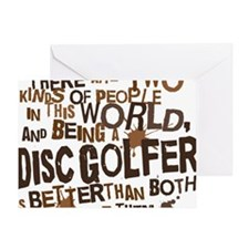 discgolfer_brown Greeting Card